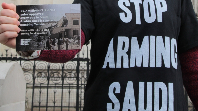 Arms trade protester